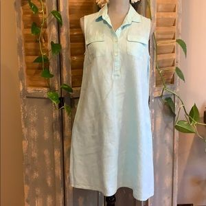 J.Mclaughlin Blue Linen button tunic with pockets